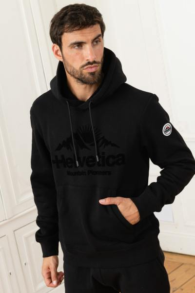 Schwarzer monochromer Pullover
