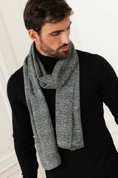 Herrenschal grau/schwarz