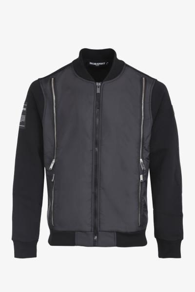 Schwarze zweilagige Jacke
