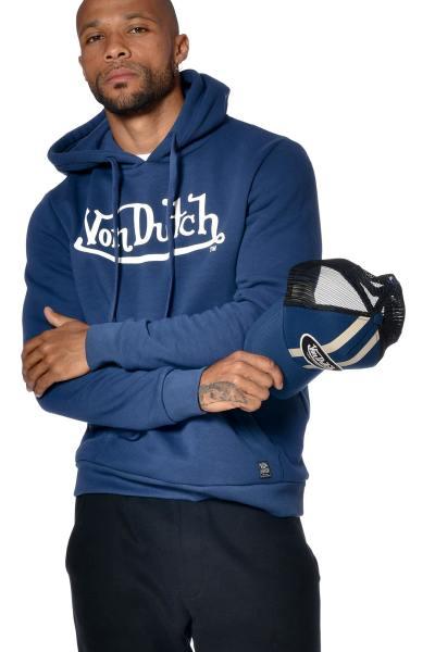 Blauer Hoodie für Männer