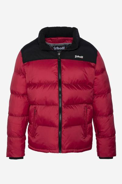 Rot-schwarze Sportswear-Jacke