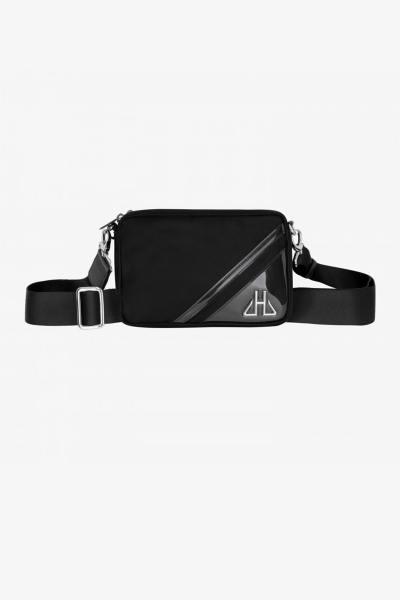 Schwarze horizontale Luxustasche