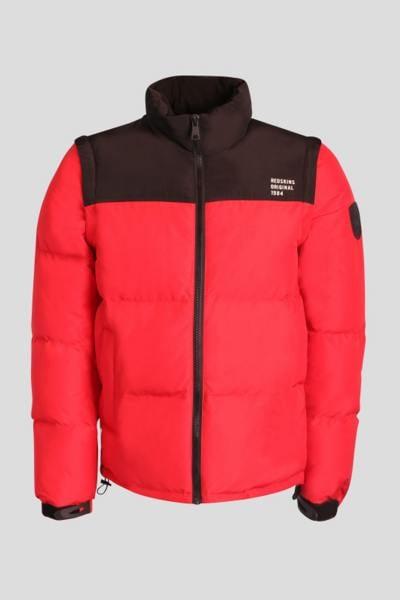Jacke mit / ohne Ärmel rot und schwarz