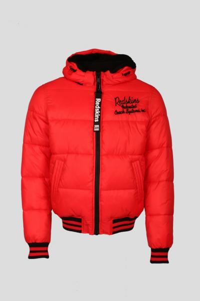 Rote warme Jacke aus Nylon