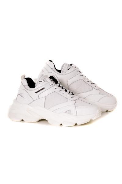 Weiße Leder-Sneakers