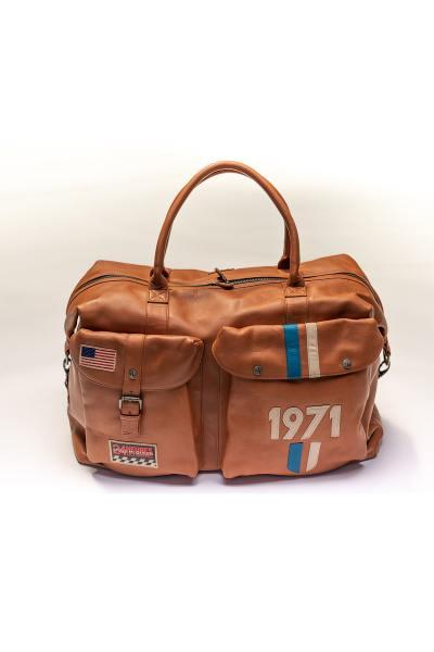 Sac 72h en cuir marron 1971 Steve McQueen