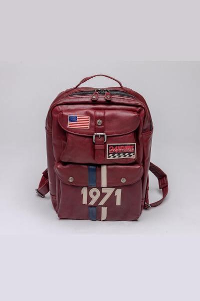 McQueen-Rucksack aus rotem Schaffell