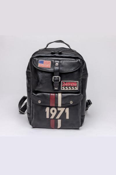 Vintage schwarzer Lederrucksack McQueen Edition