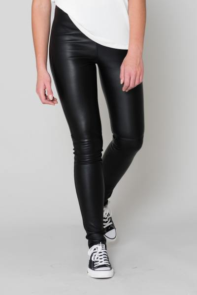 Pantalon en cuir Oakwood femme Noir              title=