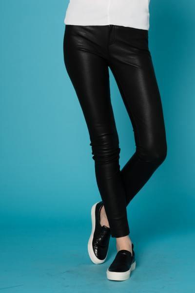 Pantalon en cuir pour Femme coupe slim Oakwood              title=