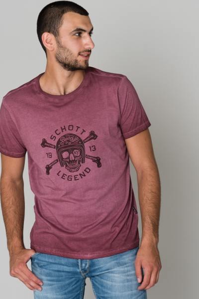 Tee Shirt Homme Schott TSLEGEND BORDEAUX