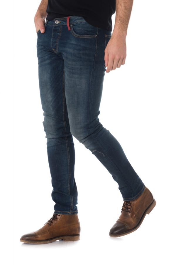 Jean Homme Redskins TROCA POWER BLUE STONE USED P19