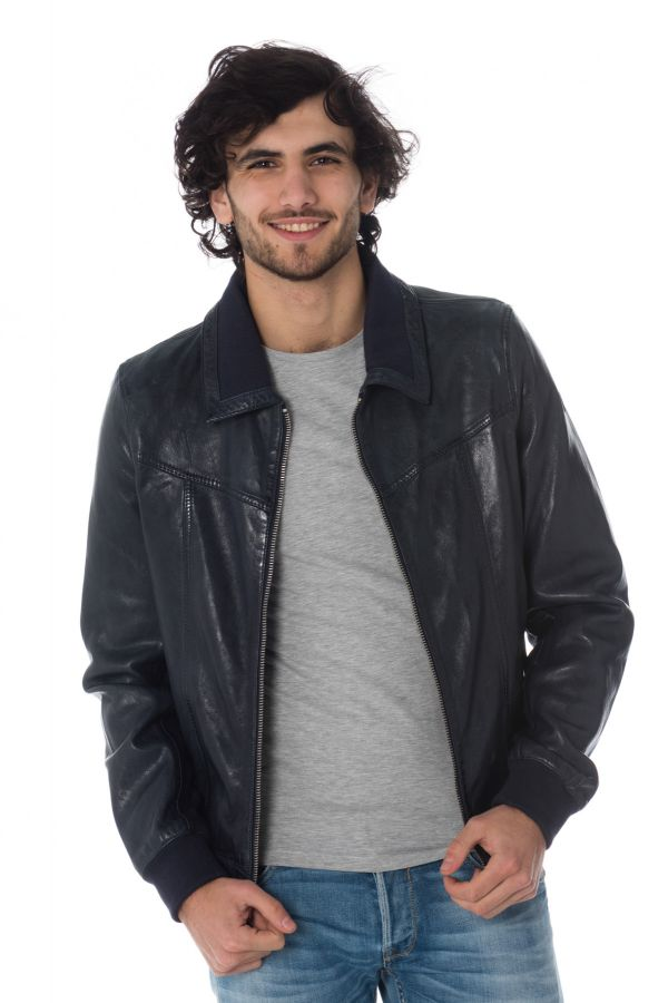 Blouson Homme Redskins RUBBETS EARLEY NAVY BLUE