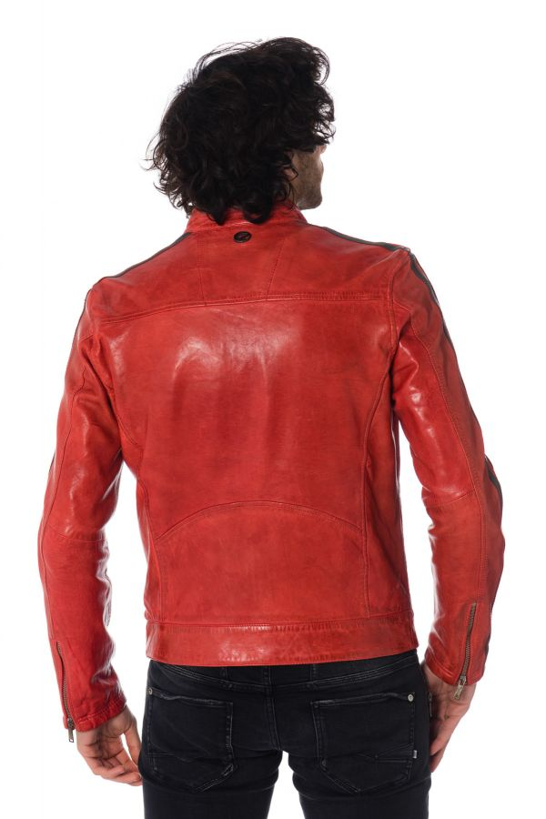Blouson Homme Redskins CARDIFF EARLEY RED GREY