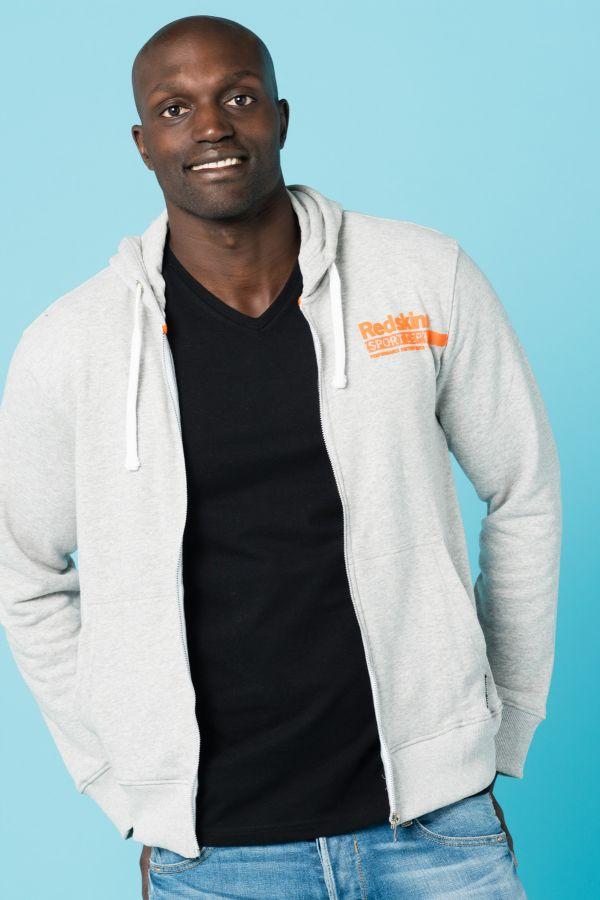 Pull/Sweatshirt Homme Redskins PERSO SMASH HEATHER GREY