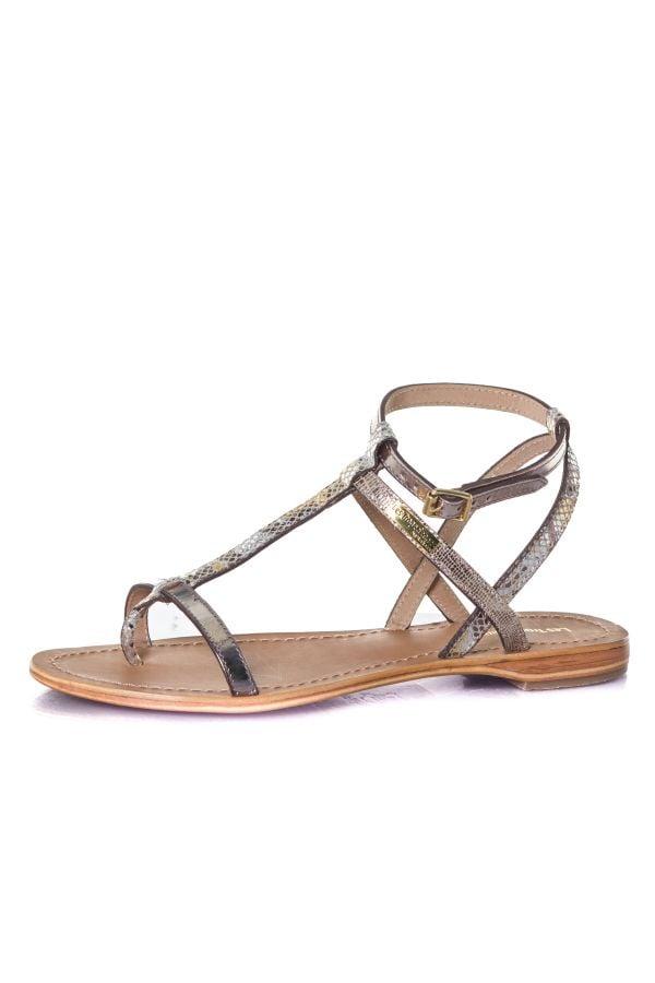 Chaussures Femme Les Tropeziennes Par M Belarbi BAIE BEIGE SERPENT