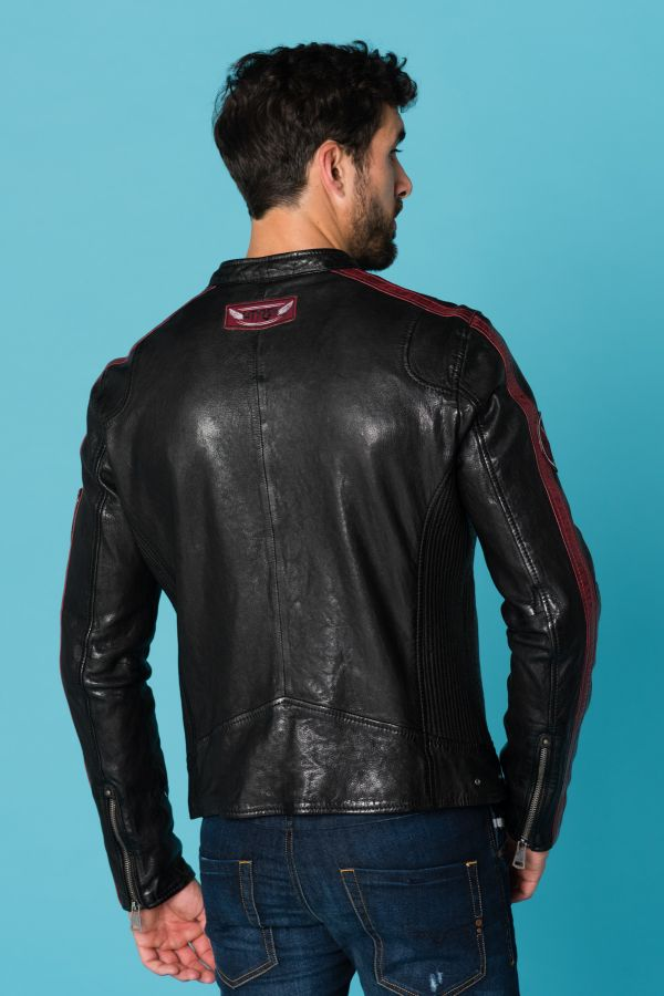 Blouson Homme Cityzen FULL SPEED BLACK/OXBLOOD