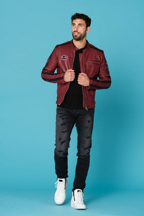 Blouson Homme Cityzen FULL SPEED OXBLOOD/BLACK