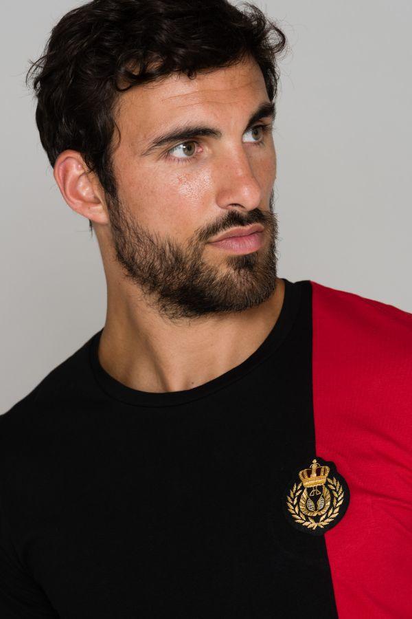 Tee Shirt Homme Horspist ORLANDO BLACK/RED