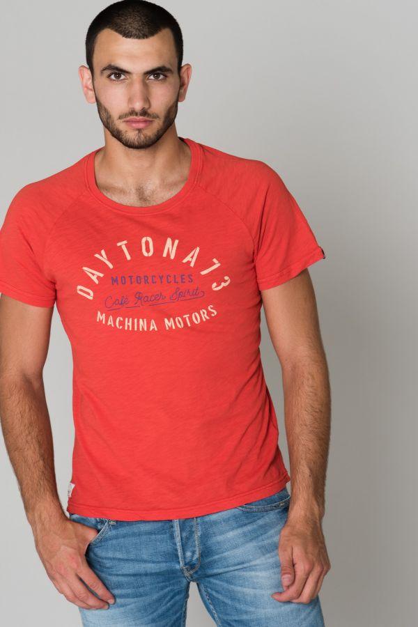 Tee Shirt Homme Daytona MACHINA ROUGE