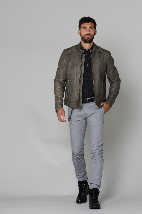 Blouson Homme Daytona MOBY COW DERBY ANTHRACITE
