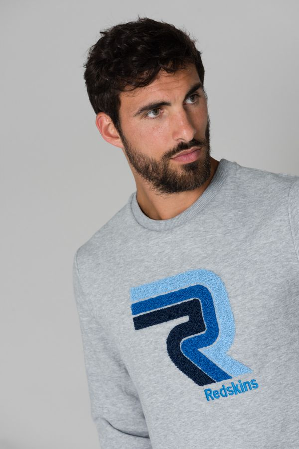 Pull/sweatshirt Homme Redskins SLALOM SKYLINE HEATHER GREY