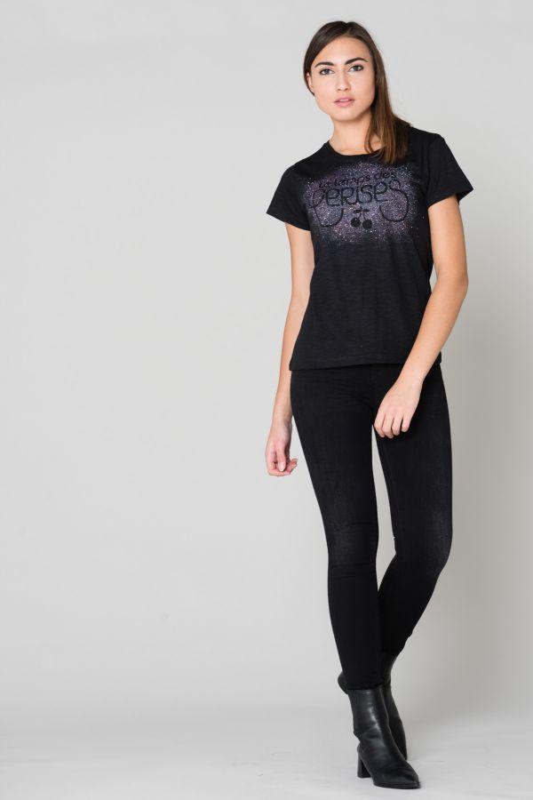 Tee Shirt Femme Le temps des Cerises TSHIRT KALIO BLACK