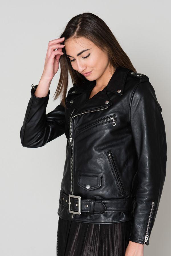 Blouson Femme Schott LCW1637 BLACK