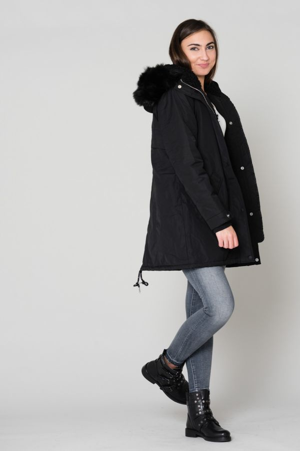Blouson Femme Schott JKTHELENSW BLACK/BLACK