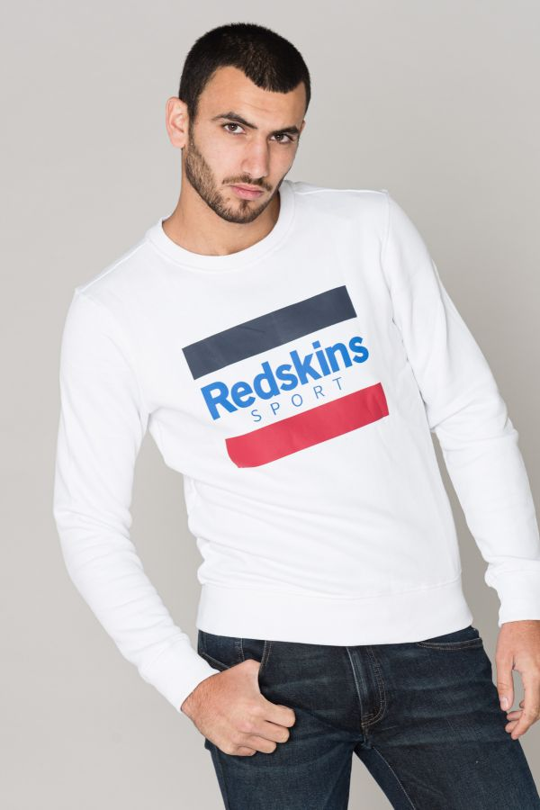 Pull/sweatshirt Homme Redskins LITAX POSTER WHITE