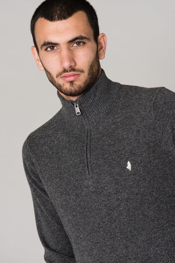 Pull/sweatshirt Homme Mcs PULL W0052-952 GRIS MOYEN