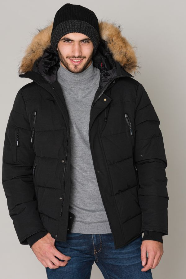 Veste Homme Helvetica NEVADA RACCOON EDITION BLACK