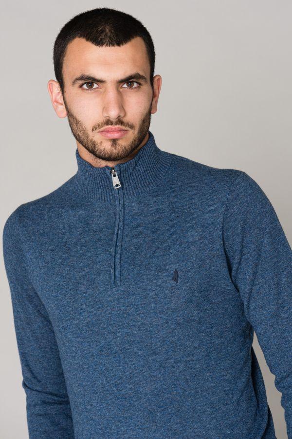 Pull/sweatshirt Homme Mcs PULL W0052-740 BLEU DENIM
