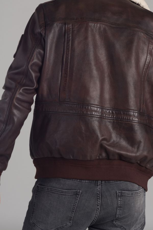 Blouson Homme Redskins FLIGHT ALPHA BROWN