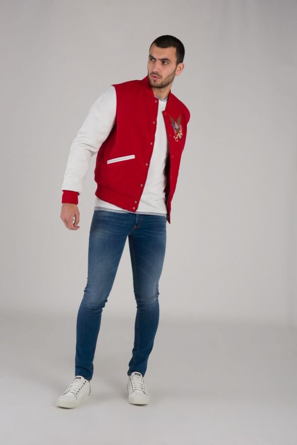 Blouson Homme American College REF 71 RED/WHITE