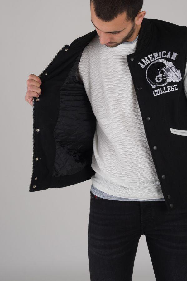 Blouson Homme American College REF 73 BLACK/WHITE