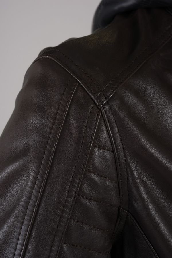 Blouson Homme Daytona KIRILL HOOD SHEEP MANILA BROWN