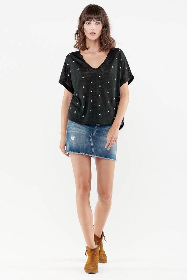 Tee Shirt Femme Le Temps Des Cerises TSHIRT BOTE BLACK