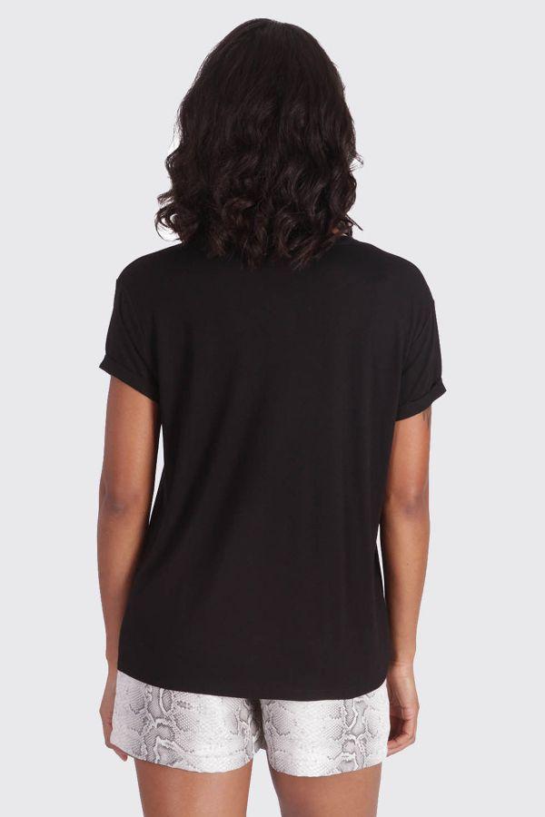 Tee Shirt Femme Kaporal REKIO BLACK