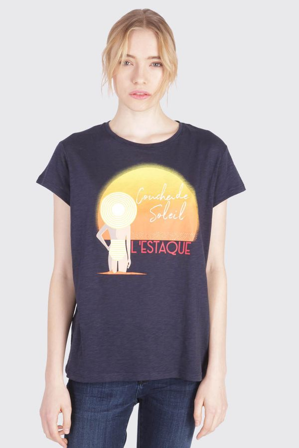 Tee Shirt Femme Kaporal RARE MARINE