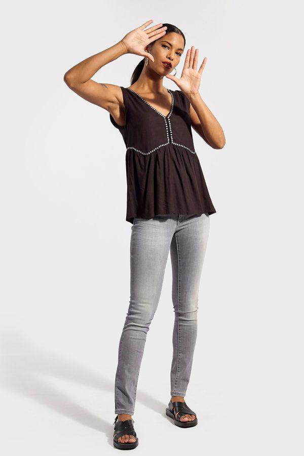 Tee Shirt Femme Kaporal ARTY BLACK