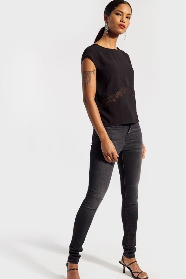 Tee Shirt Femme Kaporal BASILE BLACK