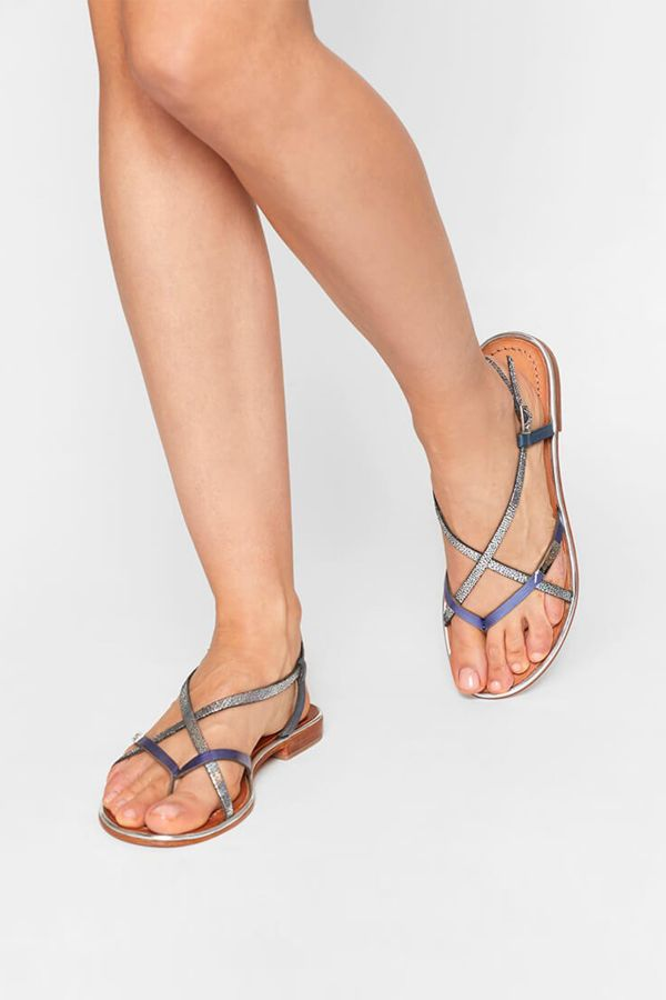 Chaussures Femme Les Tropeziennes Par M Belarbi MONACO BLEU ARGENT