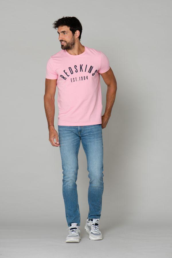 Tee Shirt Homme Redskins MALCOM CALDER PINK P20