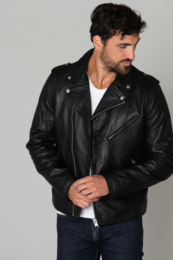 Blouson Homme Schott LCPERFCC BLACK