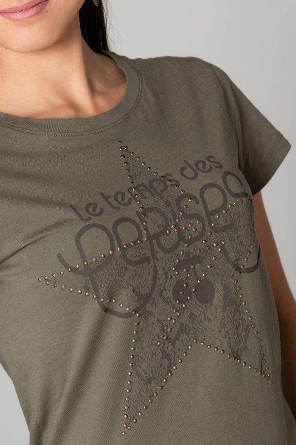 Tee Shirt Femme Le Temps Des Cerises TSHIRT F CELESTE LIZARD
