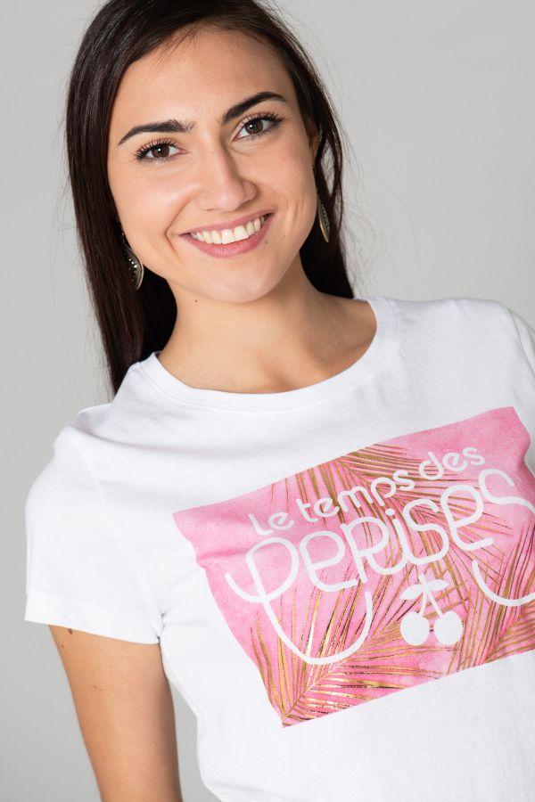 Tee Shirt Femme Le Temps Des Cerises TSHIRT F MOOREA WHITE