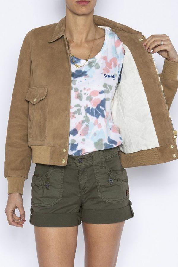 Blouson Femme Schott LCW2030SX CAMEL
