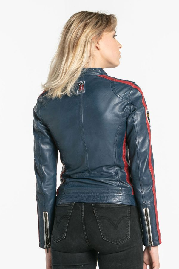 Damen Jacke Daytona OLIVERA SHEEP ATLAS SHORT BLUE