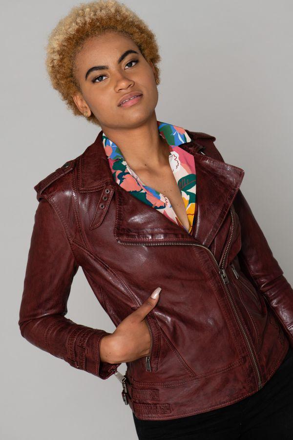 Blouson Femme Cityzen APRILIA 2 OXBLOOD